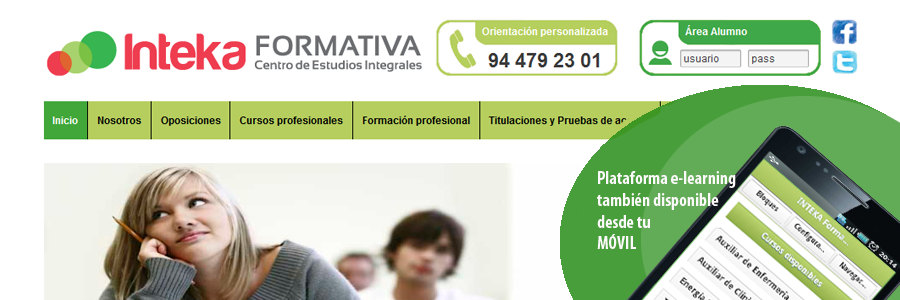pagina we2.0 + plataforma e-learning para inteka-formativa